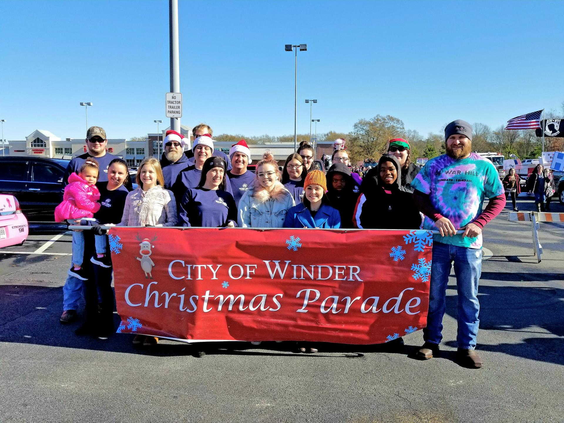 69th Winder Christmas Banner