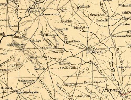 Historical Maps Winder GA - Jackson georgia map