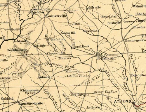 Map Of Georgia 1865.Historical Maps Winder Ga