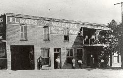 Historical photo of Downtown Businesses